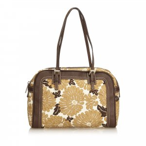 Fendi Floral Printed Canvas Shoulder Bag