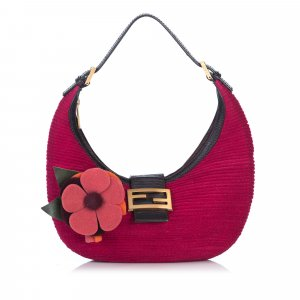 Fendi Flower Straw Hobo