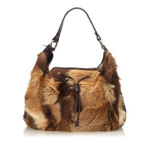 Fendi Fur Drawstring Shoulder Bag