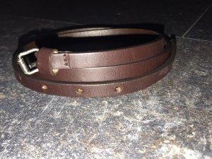 Fendi Leather Belt brown leather