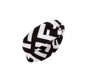 Fendi Cache-oreilles blanc-noir