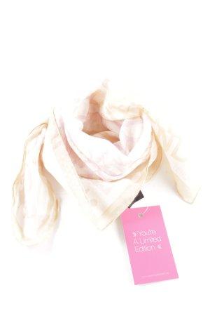 Fendi Halstuch wollweiß-pink Schriftzug gedruckt Casual-Look