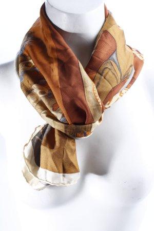 Fendi Halstuch braun-creme abstraktes Muster Casual-Look