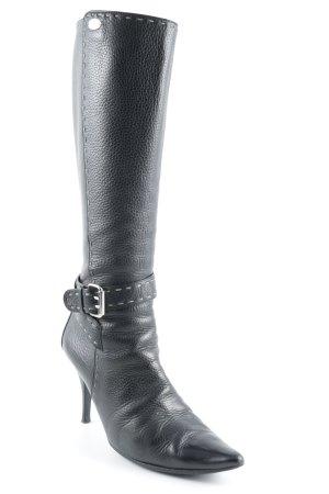 Fendi High Heel Stiefel schwarz klassischer Stil