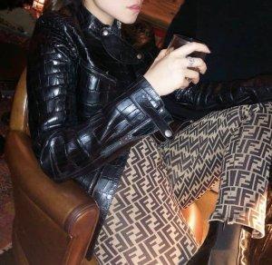 Fendi Hoge taille broek brons-lichtbruin