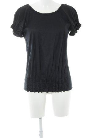 Fendi Kurzarm-Bluse dunkelblau klassischer Stil