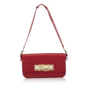 Fendi Bolsa de hombro rojo Cuero