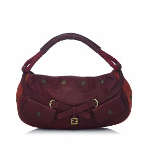 Fendi Leather and Suede FF Hobo Bag