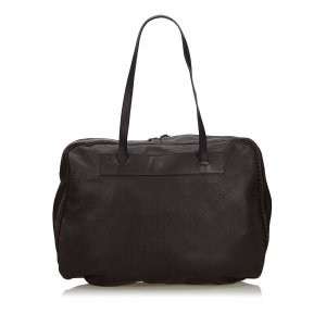 Fendi Business Bag dark brown leather