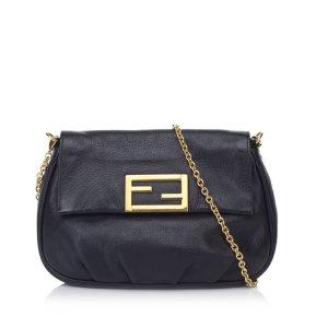 Fendi Leather Chain Shoulder Bag