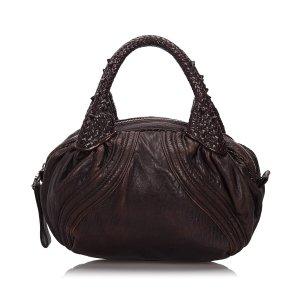 Fendi Hobos dark brown leather