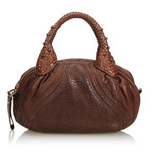 Fendi Bolsa Hobo marrón Cuero