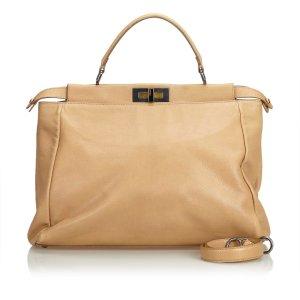 Fendi Leather Peekaboo Satchel
