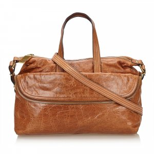 Fendi Satchel brown leather