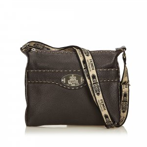 Fendi Leather Selleria Crossbody Bag