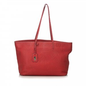 Fendi Leather Selleria Embossed Tote
