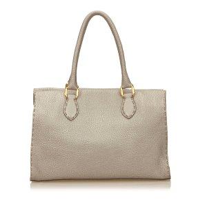 Fendi Leather Selleria Handbag
