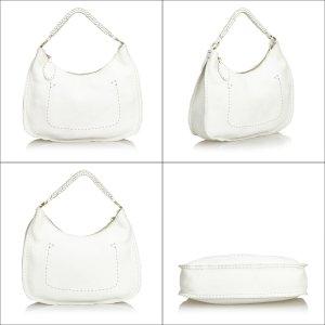 Fendi Hobos white leather