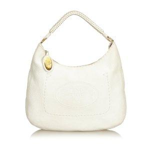 Fendi Leather Selleria Hobo Bag