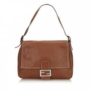 Fendi Leather Selleria Mamma Baguette
