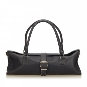 Fendi Leather Selleria Shoulder Bag