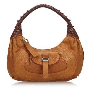 Fendi Hobos light brown leather