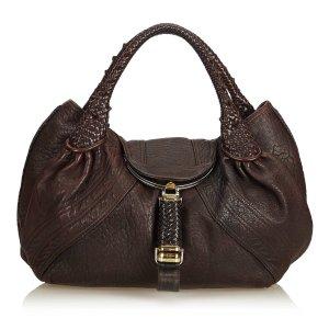 Fendi Bolsa Hobo marrón oscuro Cuero