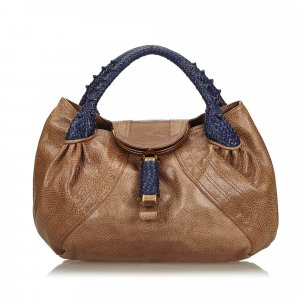 Fendi Leather Spy Handbag