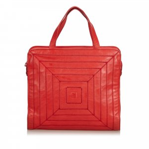 Fendi Tote red leather