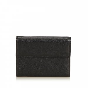 Fendi Leather Tri-fold Small Wallet