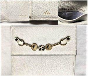 Fendi Cartera blanco-color oro