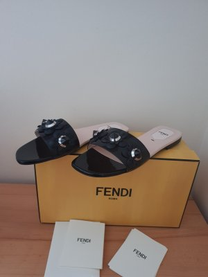 Fendi Mules black-silver-colored