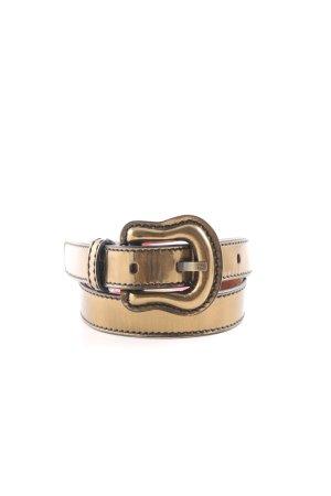 Fendi Cintura di pelle oro stile stravagante