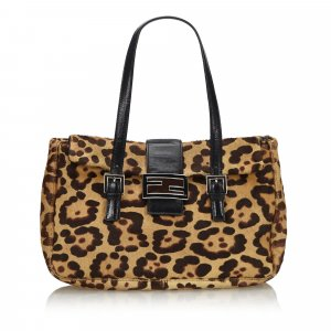Fendi Leopard Print Pony Hair Handbag
