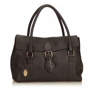 Fendi Linda Selleria Leather Handbag