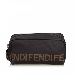 Fendi Logo Nylon Clutch