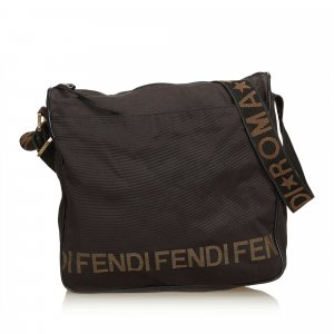 Fendi Logo Nylon Crossbody Bag