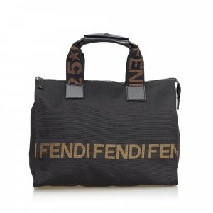 Fendi Logo Nylon Tote Bag