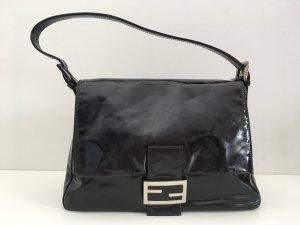 Fendi Mama Tasche schwarz Lackleder