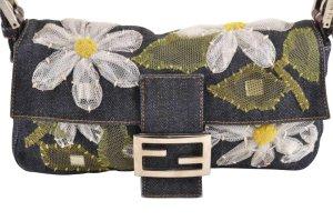 Fendi Mamma Baguette Embroidery Shoulder Bag