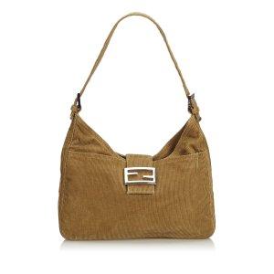 Fendi Mamma Corduroy Shoulder Bag