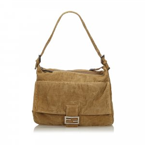 Fendi Mamma Corduroy Shoulder Bag