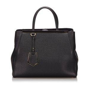 Fendi Medium 2Jours Leather Satchel