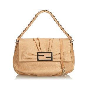 Fendi Satchel beige leather
