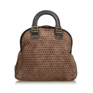 Fendi Microzucchino Suede Handbag