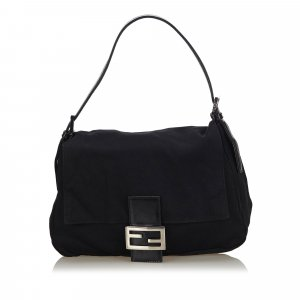 Fendi Nylon Mamma Baguette Shoulder Bag
