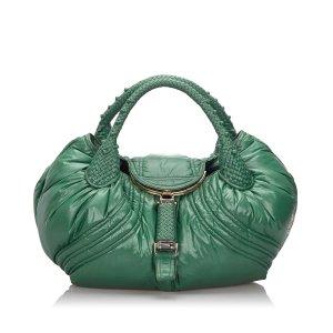 Fendi Hobos green nylon