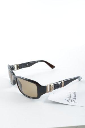 Fendi ovale Sonnenbrille dunkelbraun Casual-Look