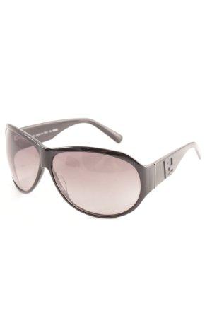 Fendi Ovale zonnebril zwart casual uitstraling