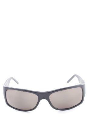 Fendi ovale Sonnenbrille schwarz Casual-Look